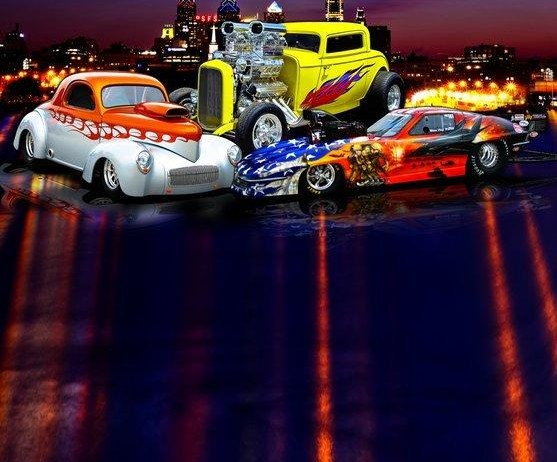 NE Custom Car Show Program Cover - Parise Racing Pro Mod Drag Racing