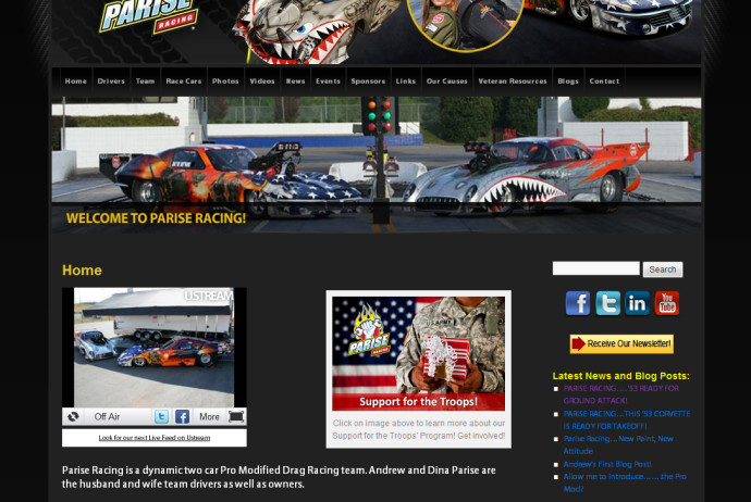 Parise Racing Website