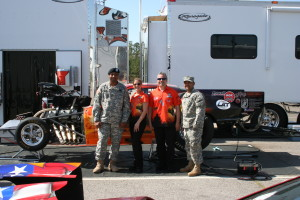 Dina and Andrew Parise with Veterans at Virginia Motorsports Park