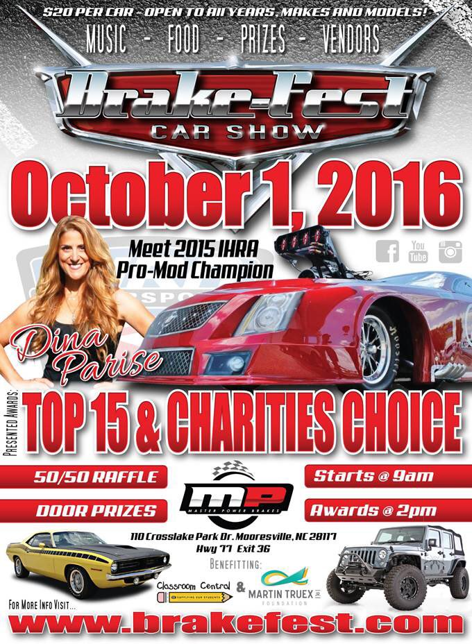 Dina Parise Racing to appear at Brake-Fest